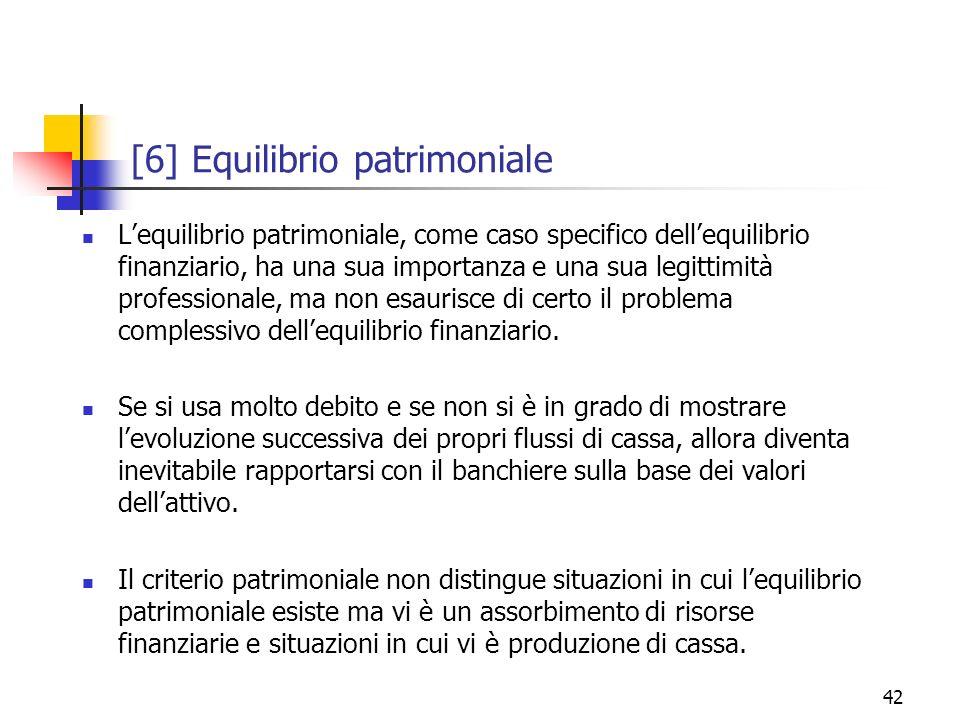 [6] Equilibrio patrimoniale